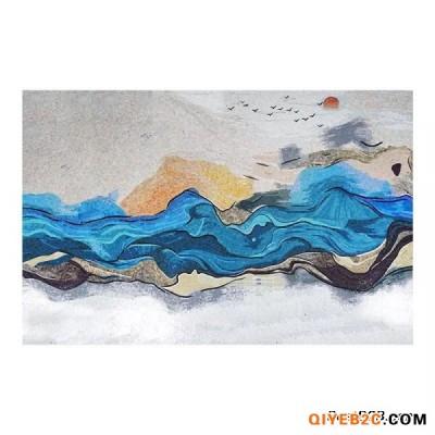 山水画艺术背景墙马赛克拼图剪画定制厂家