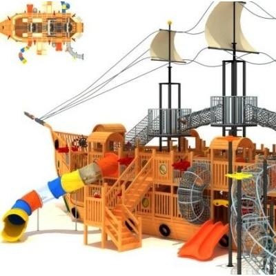 安吉游戏 幼儿园户外大型炭烧积木 建构区碳化积木