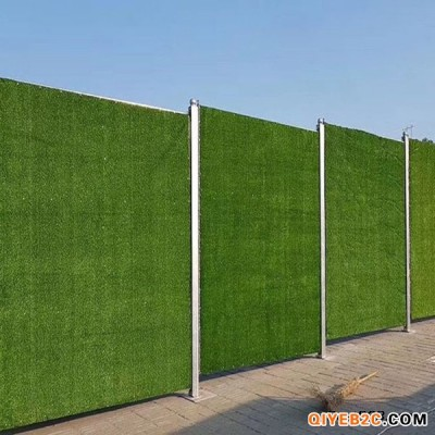 仿草皮围挡施工工艺一平方多少钱