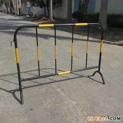 优质黄黑铁马护栏江门厂家现货铁马隔离防撞栏