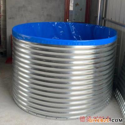 江苏养殖镀锌板圆形支架 常州高密度养殖水池支架厂家