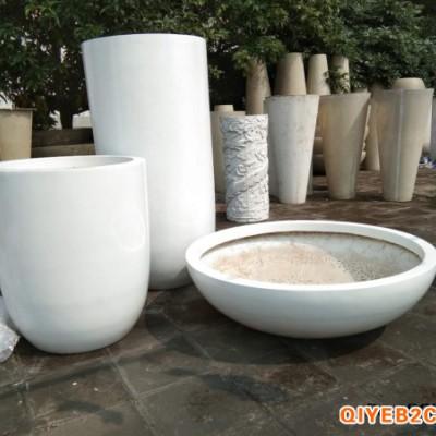 厂家直销玻璃钢花盆组合圆形花器商场广场摆放广东