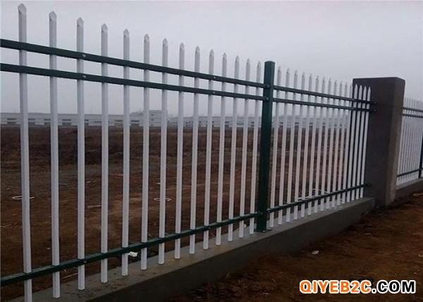 彩色方管围墙栅栏 带尖围墙护栏 锌钢防攀爬围墙护栏