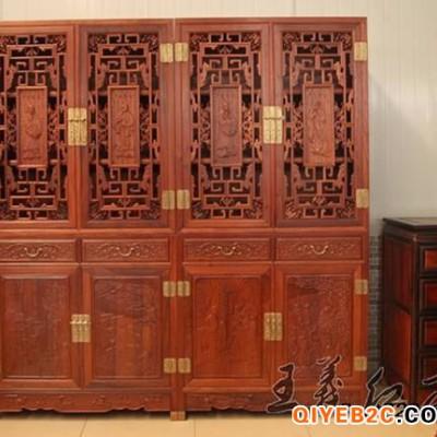红木书柜家具工艺美术大师雕刻