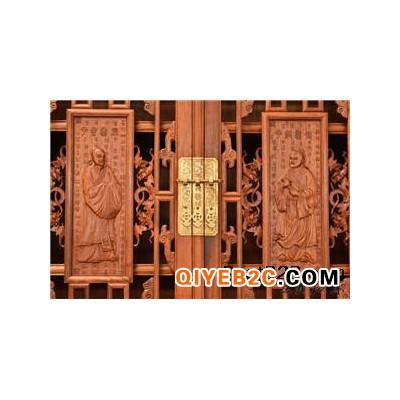 红木书柜家具雕工花纹细致