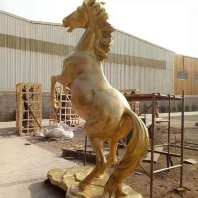 铸铜群马雕塑铸造 定制艺术铜雕塑 铜马