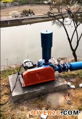 鱼塘养殖水底增氧RB88手机版三叶罗茨鼓风机