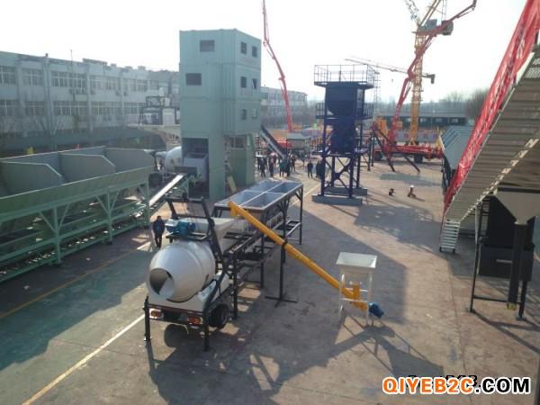 鸿达新型移动式混凝土拌合站YHZS25