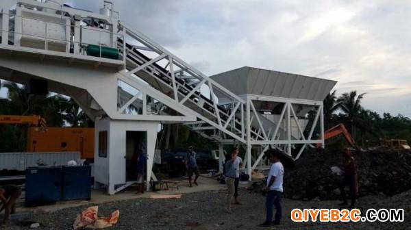 砼建鸿达YHZS35型移动式混凝土搅拌站