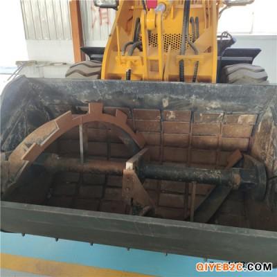 搅拌斗装载机大轮边减速桥带下开口卸料省时省人工