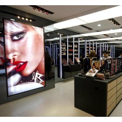 优质材质制作化妆品亚克力展示架_精致展示_工厂定制