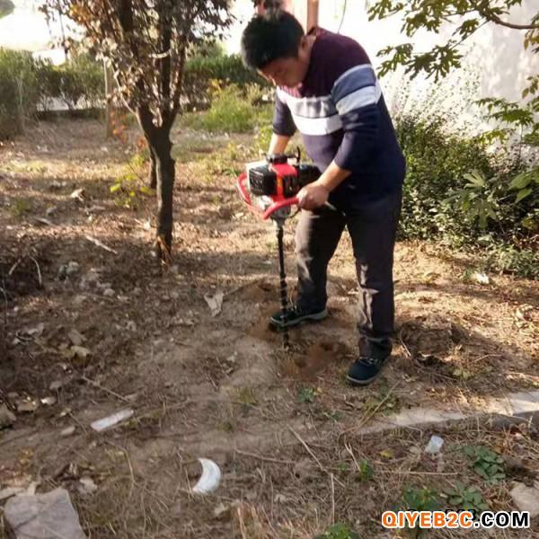 单人操作手持挖坑机