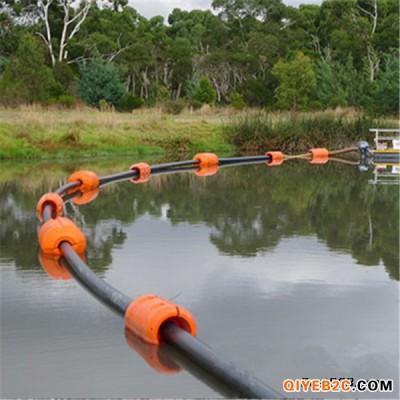 港口水库吹填工程塑料管道浮体保护水上管道浮筒