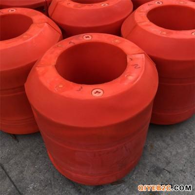 港口疏浚清淤工程塑料管道浮体保护水上管道增加浮力