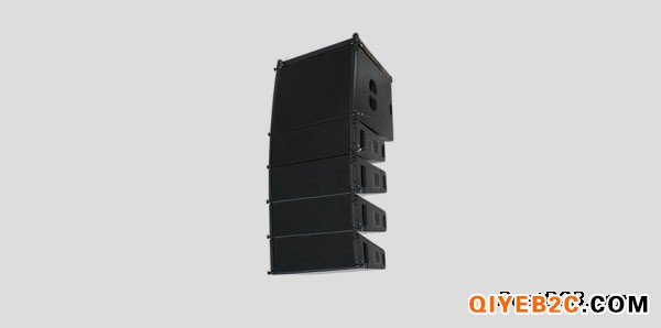 音响设备搭建舞台Dante有源线阵双6.5线阵音箱