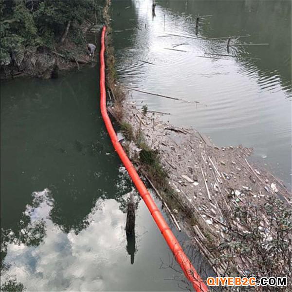 河道漂浮杂物拦载网漂浮桶