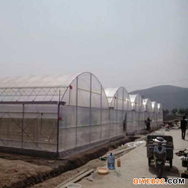 连栋智能薄膜温室 蔬菜种植温室 内保温蔬菜大棚