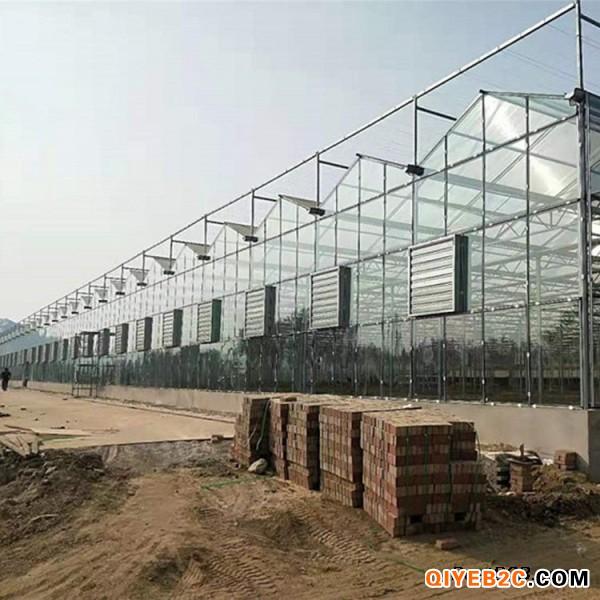 智能玻璃温室大棚 玻璃温室建设 花卉玻璃大棚